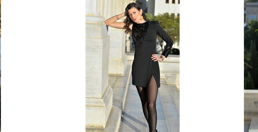 One is never over-dressed or underdressed with a little black dress ..